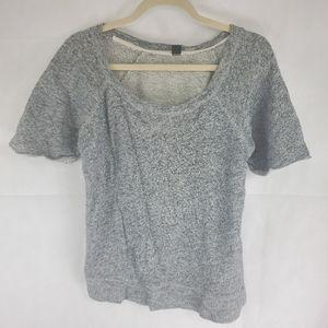 J. Crew Womans 95% Cotton T Shirt Gray Top Size S